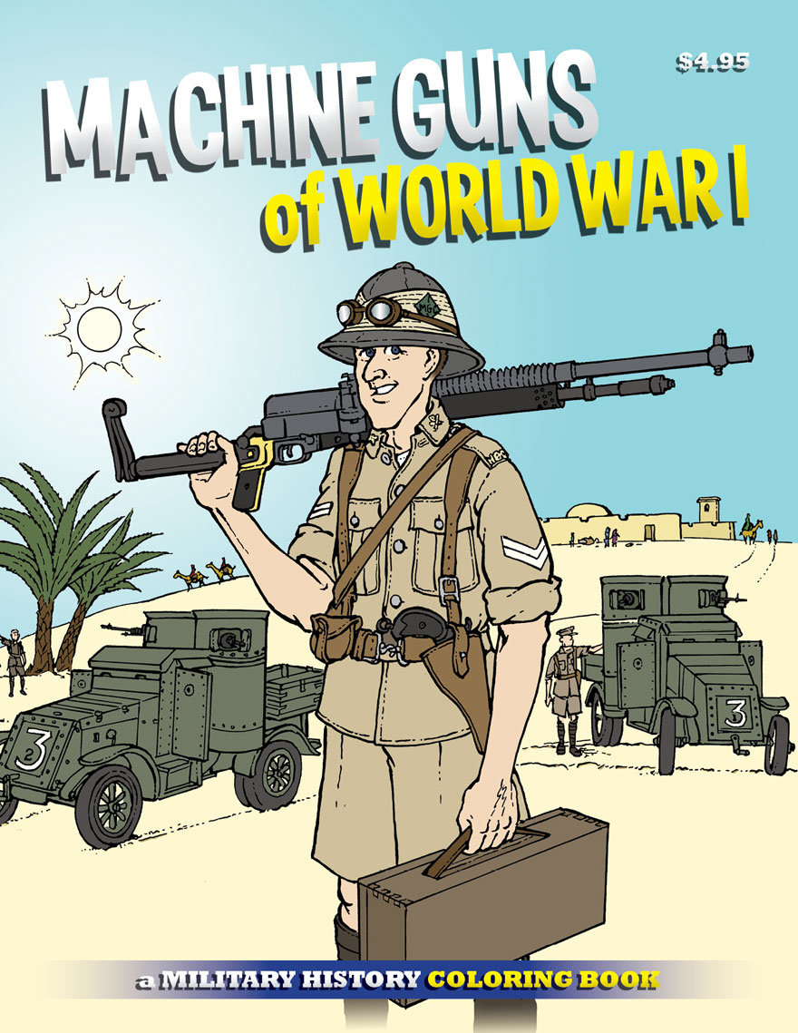 """The cover of \""""Machine Guns of WWI.\"""""""