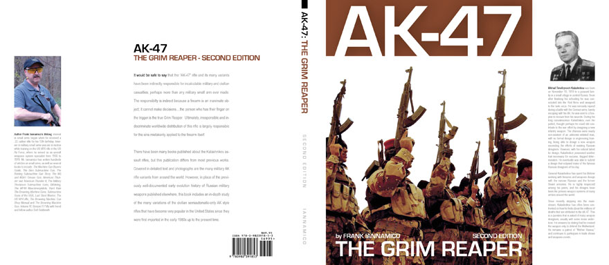"Complete dust jacket for ""AK-47 The Grim Reaper: Second Edition.\"""