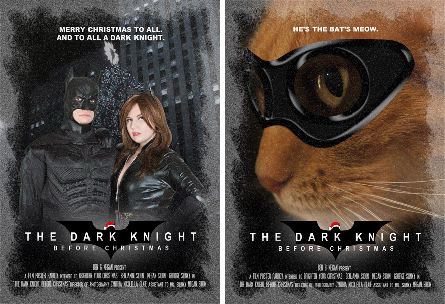 Front (left) and back (right) of our 2012 Christmas card.