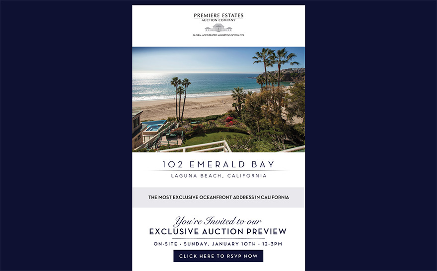 Screenshot of 102 Emerald Bay email marketing sample.  Click image to view in browser.