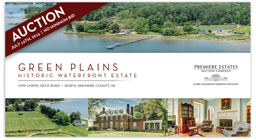 Green Plains promotional direct mail piece - front.