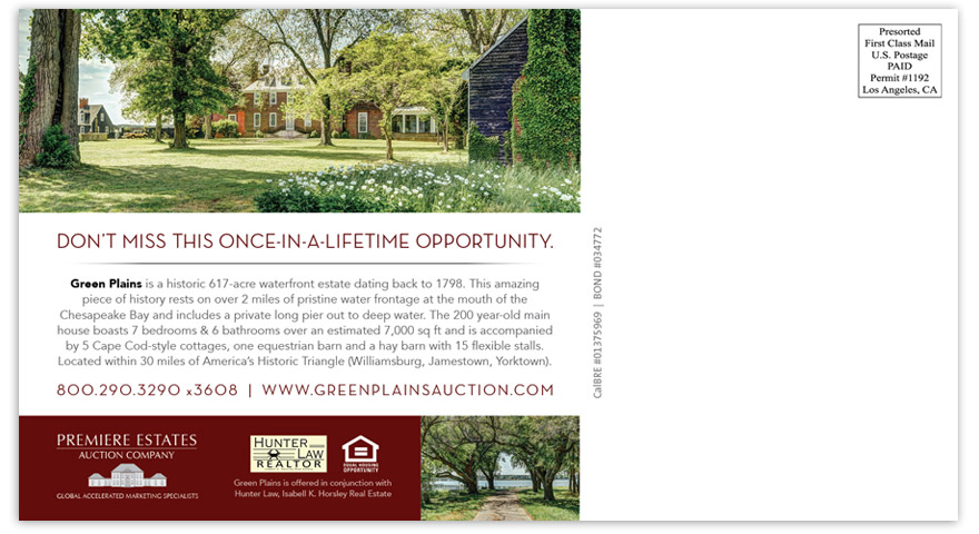 Green Plains promotional direct mail piece - back.
