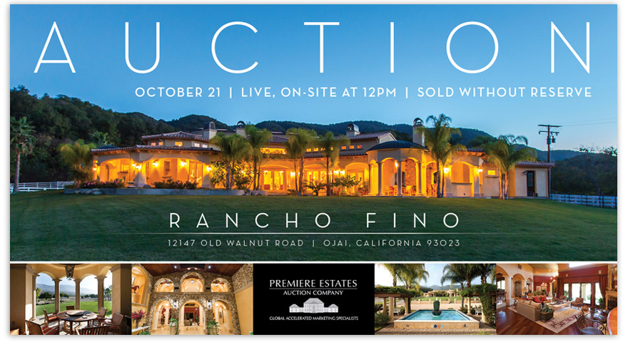 Rancho Fino direct mail piece - front.