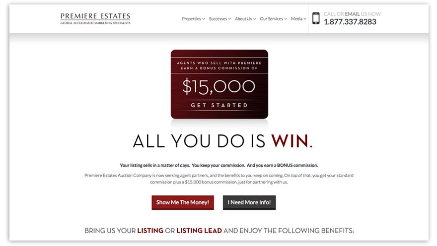 "Screenshot of the ""All You Do Is Win\"" promotional landing page. Click image to view in browser."