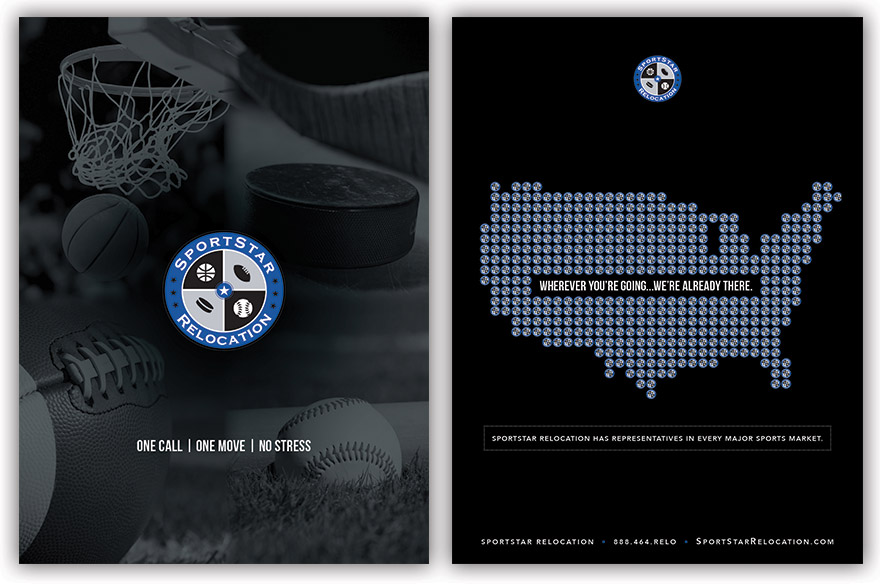 Front cover (left) and back cover (right) of SportStar\'s presentation folders.